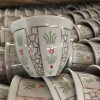 140cc china porcelain high quality golden design arabic cawa cup