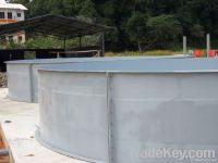 fibreglass fish tank, aqualculture tank, artemia tank, hatchery tank