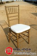 Golden Wooden Stacking Chiavari Chair