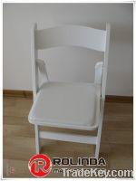 White Wedding Wood Folding Chair