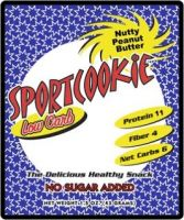 Nutty Peanut Butter Sugar Free Sport cookie