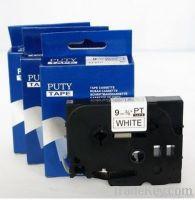 Printer ribbons 9mm Black on white label tape PT-S221