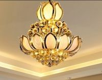 Crystal Chandelier with shade of lotus, bedroom light