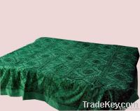 Indian mirror embroidery bedspread bedcovers