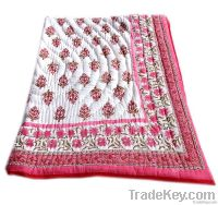 Indian Cotton reversible handmade quilts