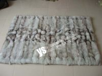 Blue Fox Fur Blanket