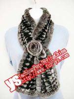 Red Rabbit Fur Scarves