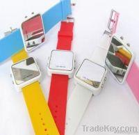 silicone mirror watch