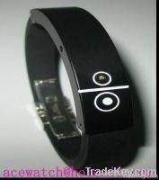 Fashion Bluetooth bracelet with LED clock