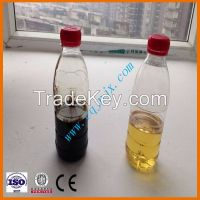 Black Waste Engine Oil Recycling and Regeneration to Yellow Base Oil Lube Oil Machine