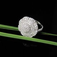 2011 charming 925 sterling silver CZ rings costume jewelry