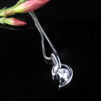 2011 elegant 925 sterling silver CZ(Heart and Arrows)  necklace gift