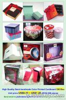 High quality rigid handmade gift box, cardboard box, gift packaging