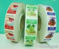 Color printed adhesive sticker, label