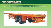 40Feet 2axles flatbed  container semi-trailer