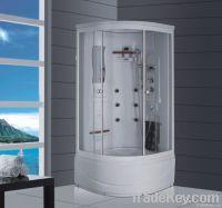 90x90cm ABS board steam shower box with high tub
