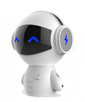 Lucky Robot Bluetooth Speaker With Power Bank -New Date Mini Portable Robot Smart Blueototh Speaker With Power Bank Function (White/black)