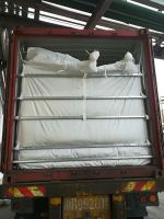 Pneumatic or blowing loading PP woven dry bulk container liner bag