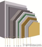 Exterior wall thermal insulation systems based on rockwool boards