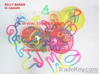 Silly bands, silicone bands, crazy bands, vending toys