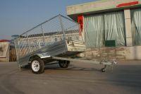 Hot dip galvanized Cage trailer