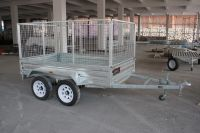 Tandem box trailer and Tandem cage trailer
