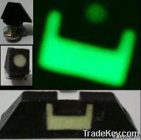 Glock glow night front & rear sight set pair g17 clock 17 luminous
