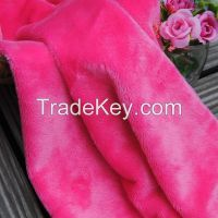 100% Polyester 26 Colors Plain Design Smooth Minky Fabric