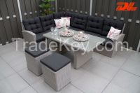 Hot sale wicker rattan hotel furniture outdoor sectional furniture rattan garden furniture