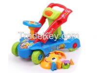 Multifunctional educational baby walker toys 2 in 1(ride-on or push forward)