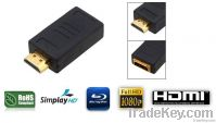 Mini Gold Plated HDMI Male to HDMI Female Adapter