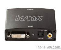 DVI+R L Audio to HDMI Converter
