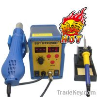 Double LED display 2 in 1 lead-free heat gun and solder iron