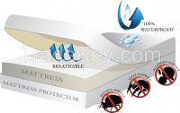 Waterproof Anti Bed Bug Mattress Encasements (Zippered Mattress Covers)