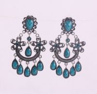 crystal chandelier earrings silver