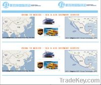 logistics service, air, express, LCL, FCL from Shenzhen to Mexico