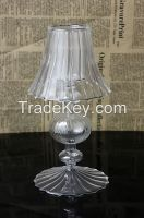 Glass candle holder for tealight or votive candle holder