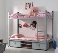 Bunk bed with storage cabinet