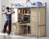 Loft bed with cabinet-HSYI11B+HSJI11WL