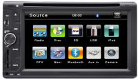 Universal Two Din 6.2inch Digital LCD Car DVD Player