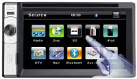 Two Din 6.2inch Digital LCD Car DVD Player