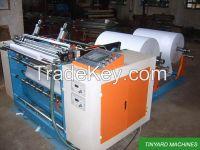Cash register paper roll slitting machine