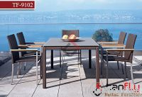 TF9102Garden dining set/rattan dining chair & table