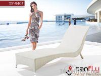 TF-9405White luxury beach chair/wicker lounger