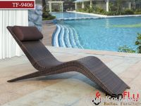 TF-9406Modern pool lounger/wicker sun lounger
