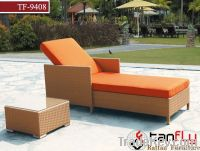 TF-9408Rattan outdoor chaise lounge