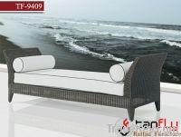 TF-9409 Rattan sofa bed/wicker beach chair
