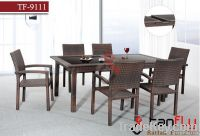 TF-9111 Patio rattan dining chair and table