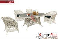 TF-9119 PE rattan dining set/rattan dining chair