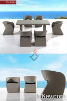 TF-9105 Luxury garden rattan furniture dining set